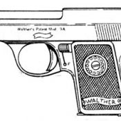 WALTHER MODEL 9, .25ACP, 6 RD MAGAZINE OR GRIPS