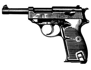 WALTHER P-38, 9MM, 15 RD: