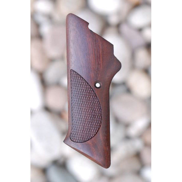 COLT WOODSMAN 2ND SERIES WOOD GRIPS WITHOUT THUMB REST (CHECKERED) - Triple K