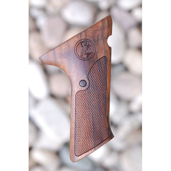 COLT WOODSMAN MATCH TARGET 2ND SERIES WOOD GRIPS WITH THUMBREST (CHECKERED WITH LOGO) - Triple K