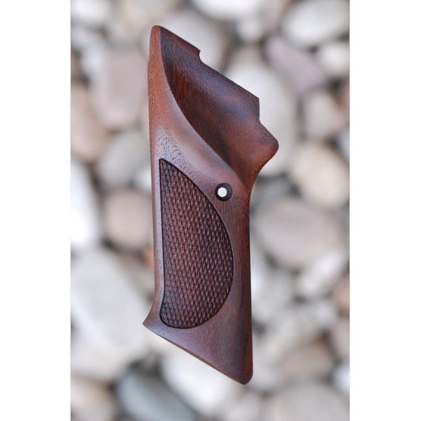 COLT WOODSMAN MATCH TARGET 3RD SERIES WOOD GRIPS WITH THUMBREST (CHECKERED WITH LOGO) - Triple K