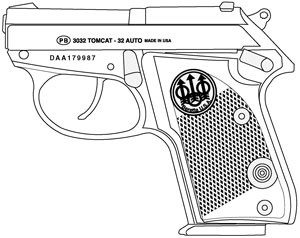 beretta tomcat 32 acp 7 rd magazine or grips triple k Smith and Wesson 745